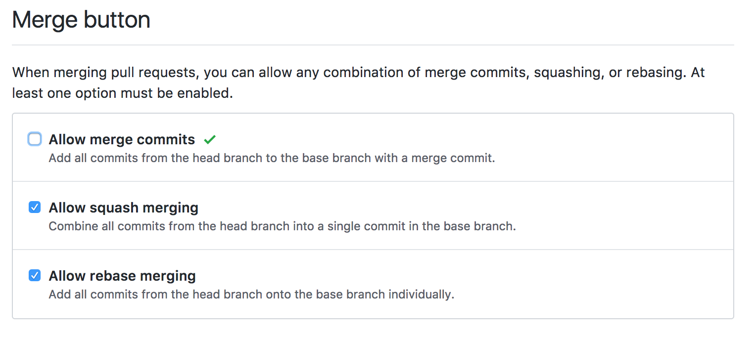 Disable merge commits
